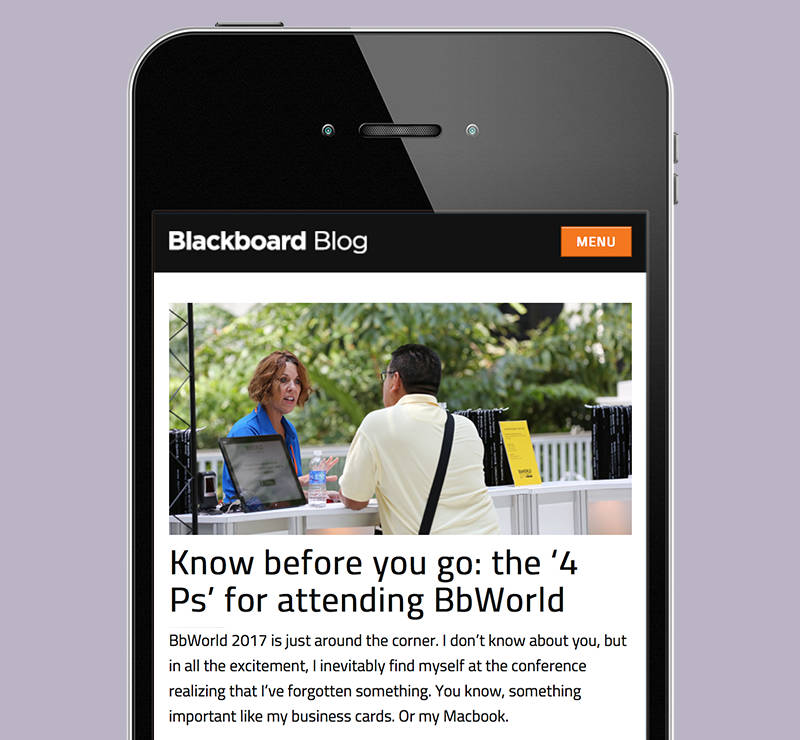 "Blackboard ""Know Before You Go"" Blog"